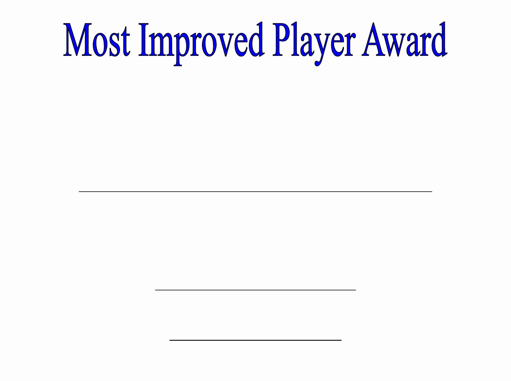 Most Improved Certificate Template Awesome Most Improved Certificate Advanced Most Improved Player