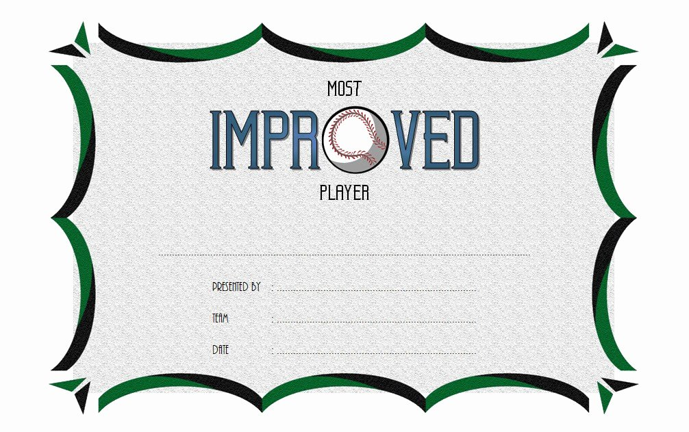 Most Improved Certificate Template Free Awesome Most Improved Player Certificate Template 7 Best Choices