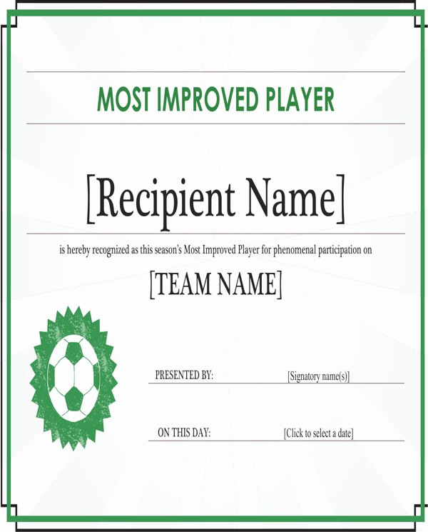 Most Improved Certificate Template Free Luxury Download Most Improved Player Certificate Editable Title
