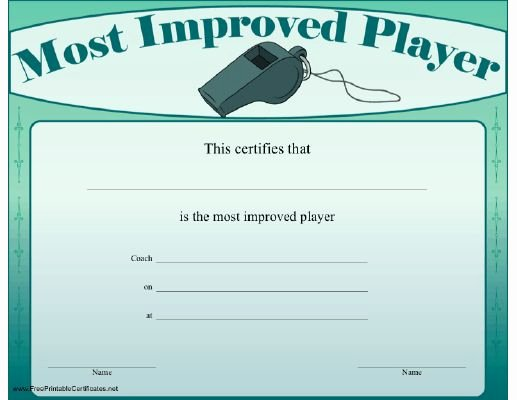 Most Improved Certificate Template Free Unique 16 Of Egg and Spoon Race Certificate Template