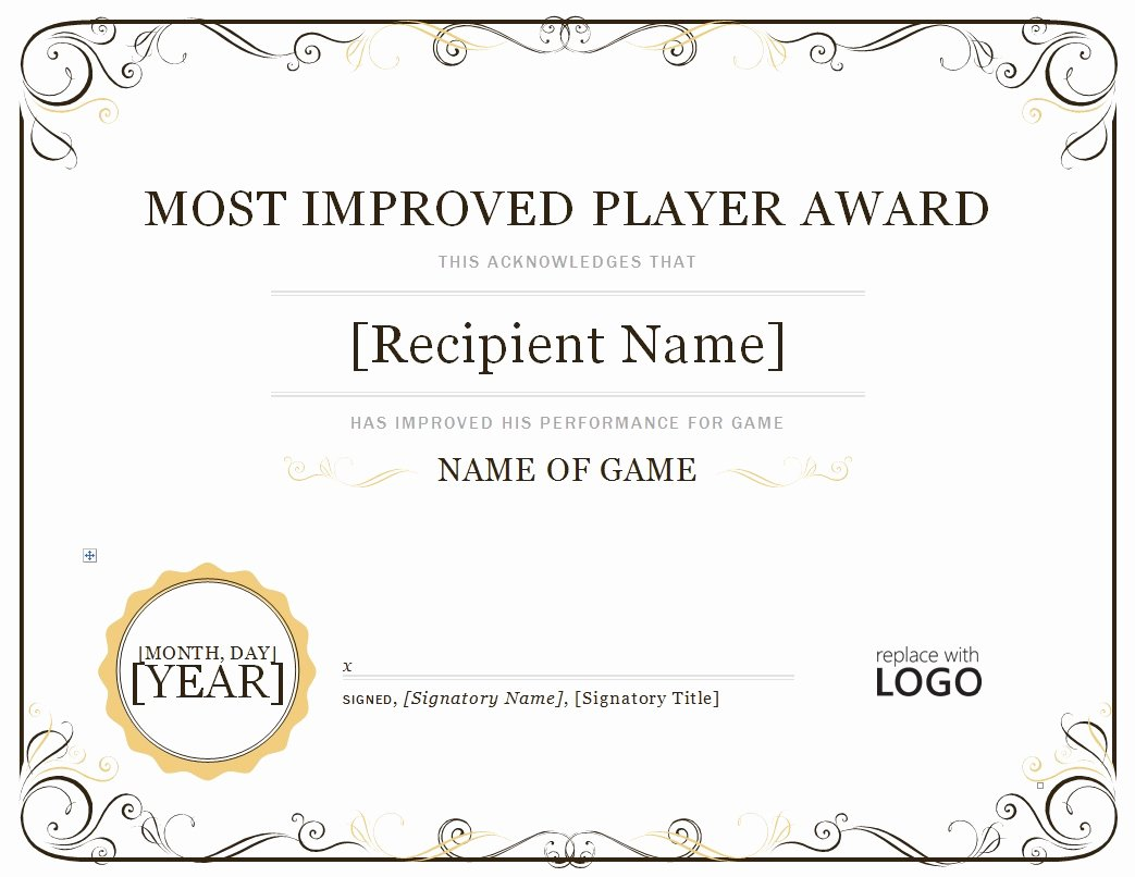 Most Improved Certificate Template Free Unique 2023 Most Improved Player – Continental Baseball League