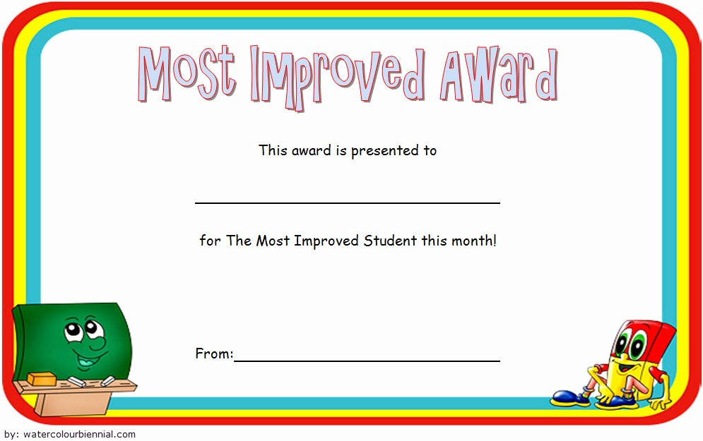 Most Improved Certificate Template Lovely Most Improved Student Certificate Printable 10 Best Ideas