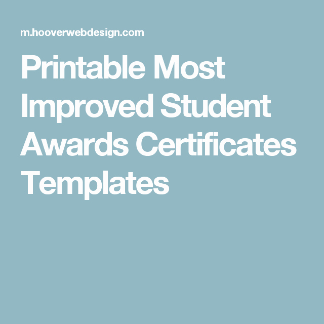 Most Improved Certificate Template Luxury Printable Most Improved Student Awards Certificates