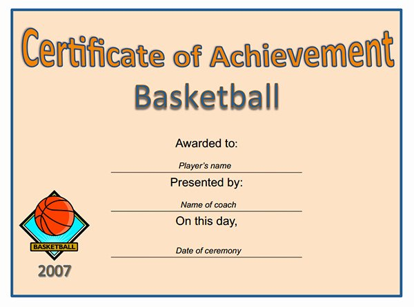 Most Improved Certificate Wording Awesome Printable Sports Certificates