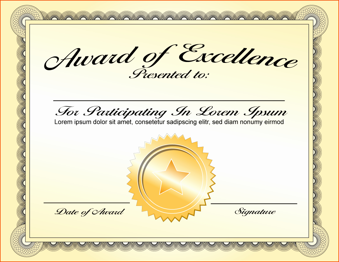 Most Improved Certificate Wording Lovely 8 Awards Certificate Template Bookletemplate