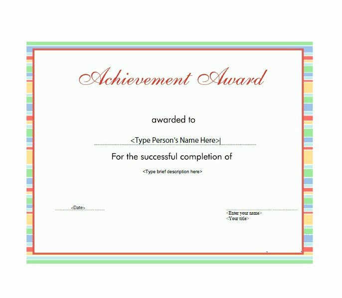 Most Improved Certificate Wording Luxury 50 Amazing Award Certificate Templates Template Lab