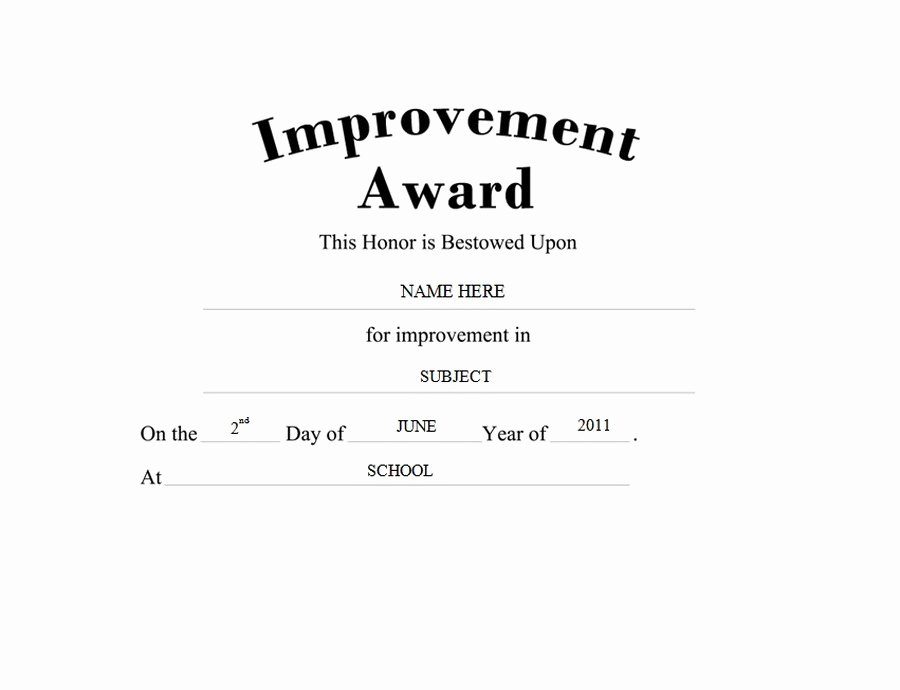 Most Improved Certificate Wording Luxury Awards Free Templates Clip Art & Wording