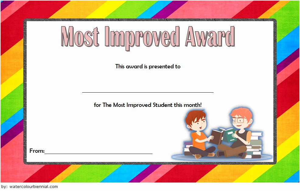 Most Improved Student Award Wording Luxury Most Improved Student Certificate 10 Template Designs Free