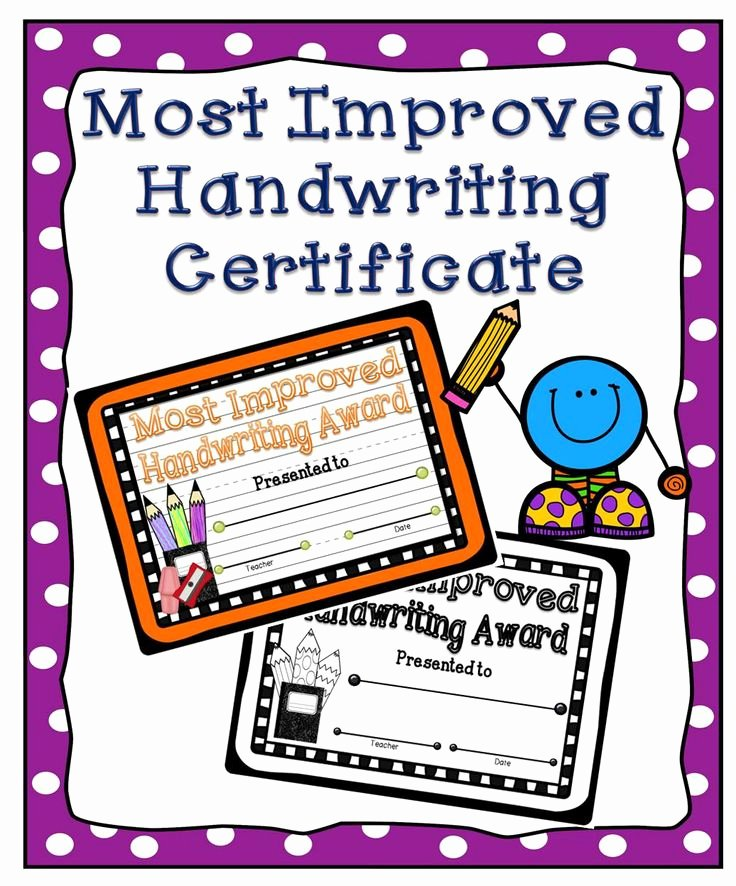 Most Improved Student Award Wording Luxury Reward Your Students' Handwriting Skills with This