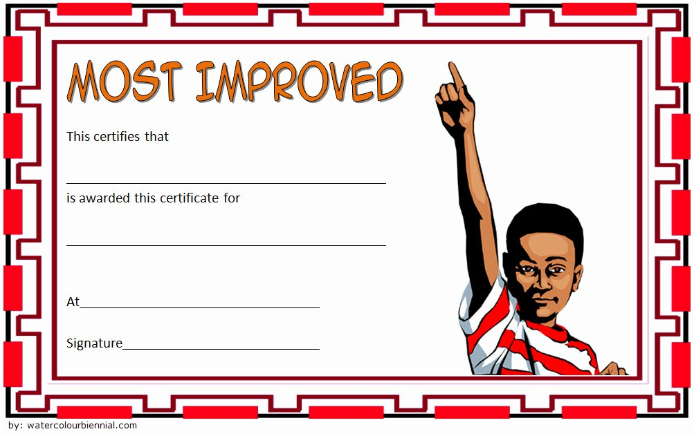 Most Improved Student Certificate Beautiful Most Improved Student Certificate 10 Template Designs Free