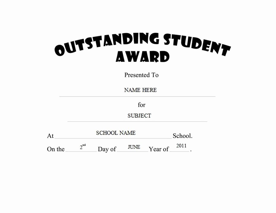 Most Improved Student Certificate Best Of Awards Free Templates Clip Art & Wording