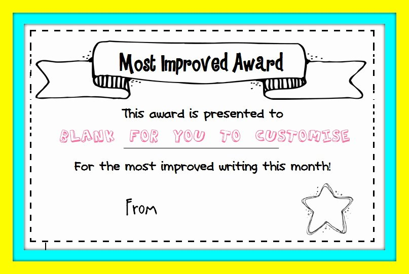 Most Improved Student Certificate Best Of Writing – Page 2 – Missmernagh