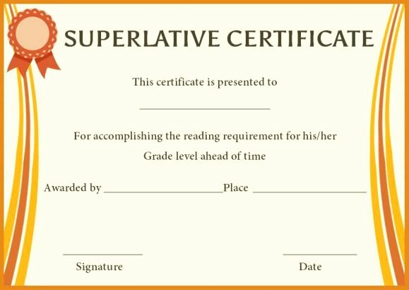 Most Likely to Award Template Awesome Superlative Award Certificate Templates