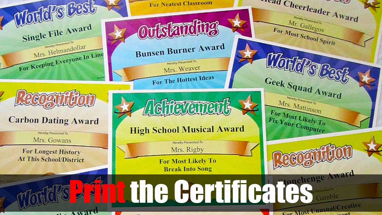 Most Likely to Award Template Elegant Funny Awards Silly Awards Humorous Award Certificates