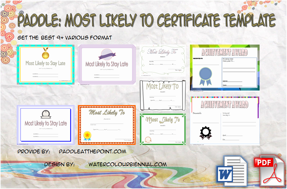 Most Likely to Award Template New Free Most Likely to Certificate Templates 9 New Choices