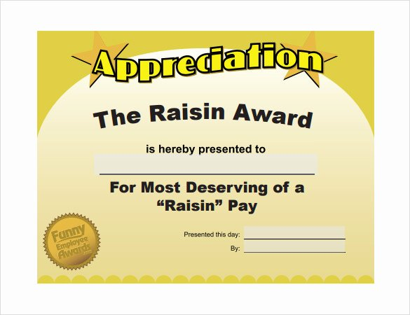 Most Likely to Certificate Template Awesome 29 Of Funny Certificate Appreciation Template