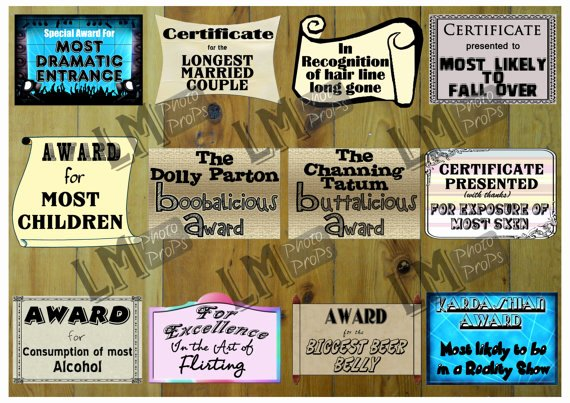 Most Likely to Certificate Template Inspirational Reunion Certificates Props Class Reunion Party Reunion