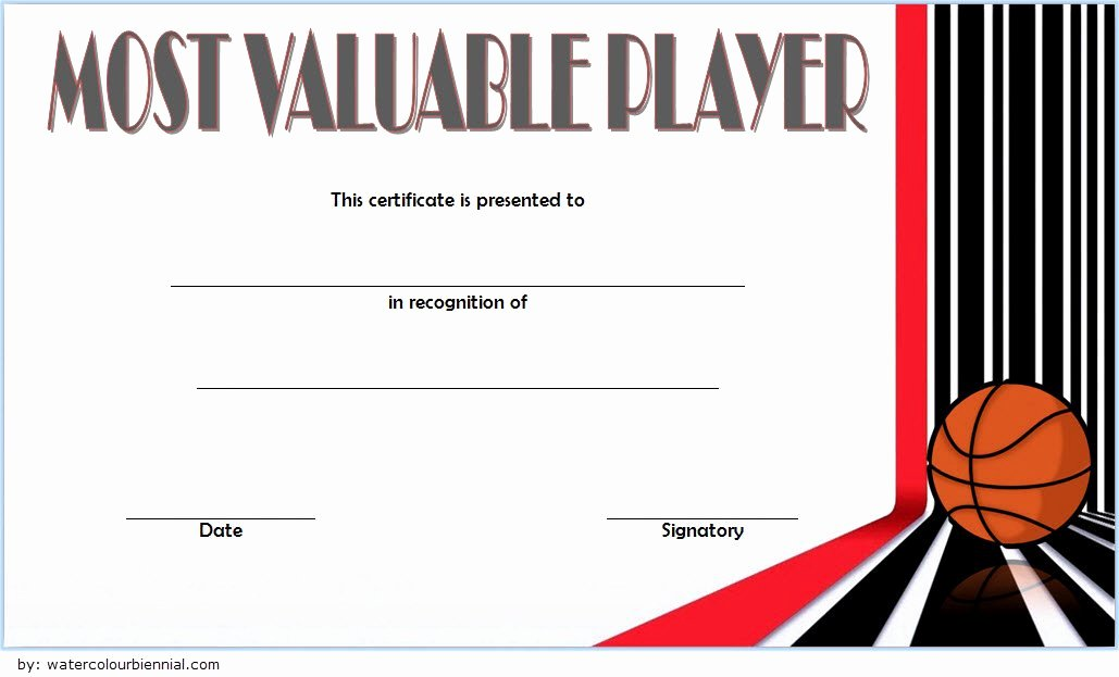 Most Valuable Player Certificates Luxury 30 Most Valuable Player Certificates