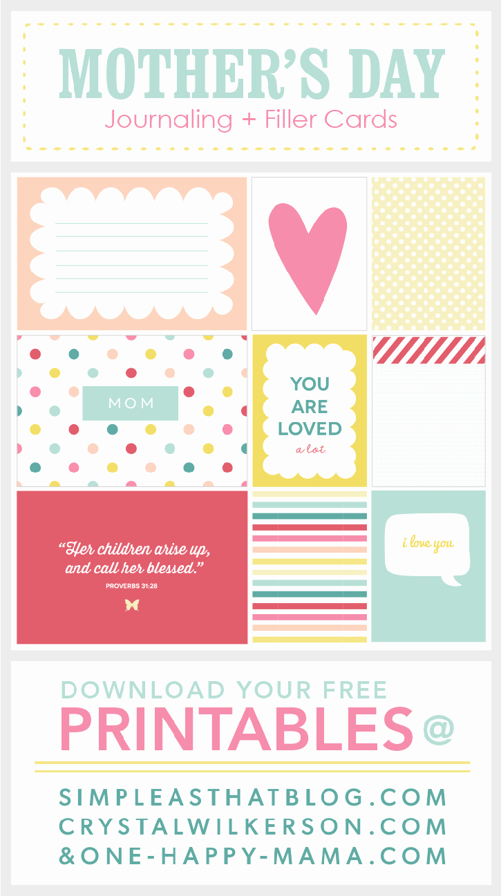 Mother Day Certificates to Print Beautiful Ultimate Roundup Of Free Journaling Filler Card Printables