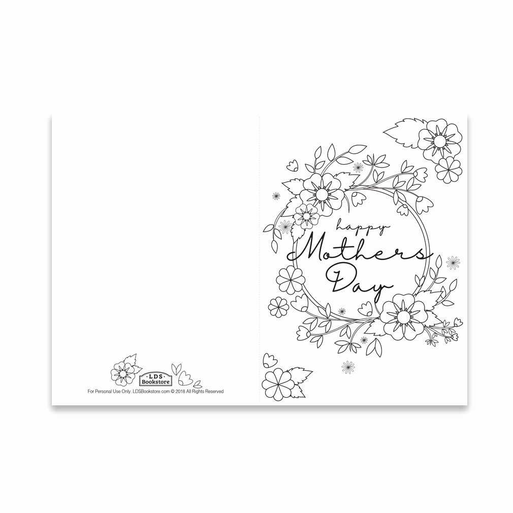 Mother Day Certificates to Print Best Of Mother S Day Coloring Card Spring Flowers Printable In