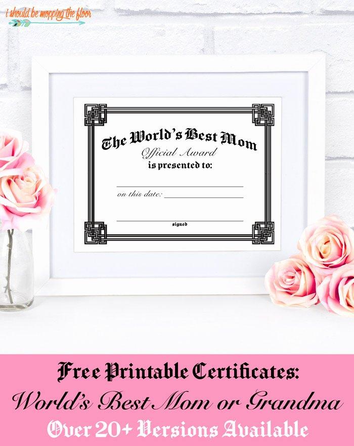 Mother Day Certificates to Print Elegant Free Mothers Day Certificate Printables