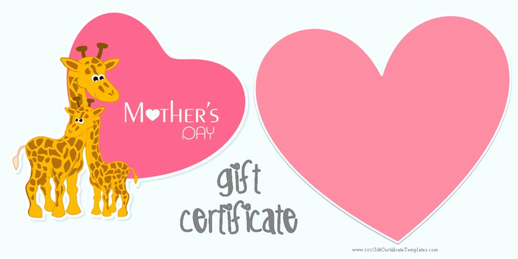Mother Day Certificates to Print Elegant Mother S Day Gift Certificate Templates