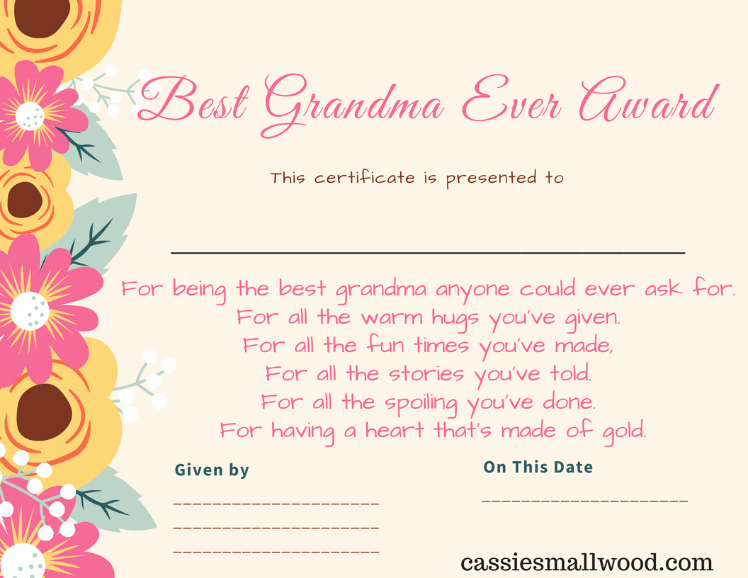 Mother Day Certificates to Print Fresh Free Mother S Day Printable Certificate Awards for Mom and