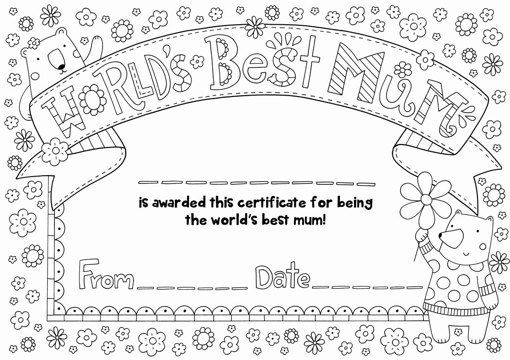Mother Day Certificates to Print Luxury Free Mother S Day Certificate Download Hobbycraft Blog