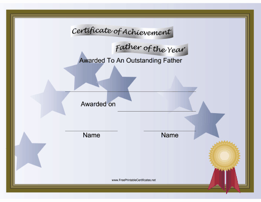 Mother's Day Certificates to Print Awesome A Printable Certificate for the Father Of the Year to Be