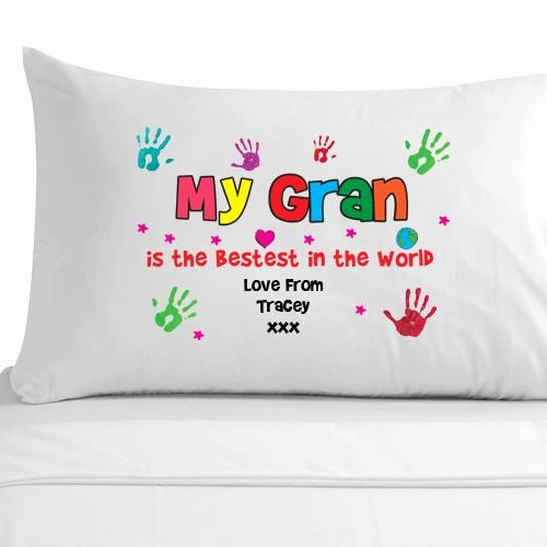 Mother's Day Certificates to Print Awesome Personalised Gran Handprint Pillowcase Grandma Nana