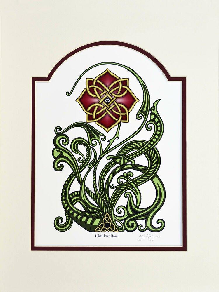 Mother's Day Certificates to Print Fresh Wild Irish Rose – Digital Art Print Irish Gift Mother