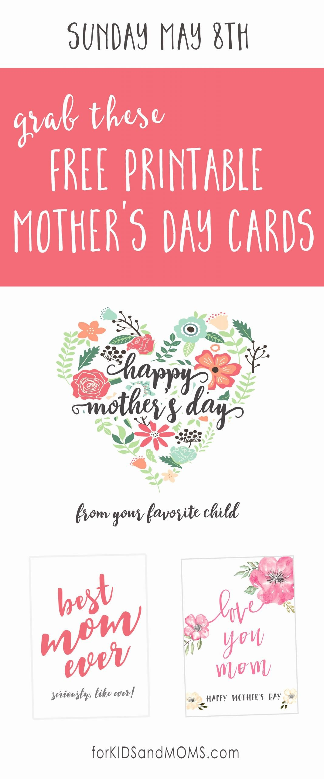 Mother's Day Certificates to Print Inspirational Free Printable Mother S Day Cards the Cottage Market