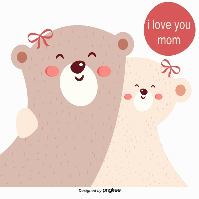 Mother's Day Certificates to Print New Mutual Snatched Bear Mother and Child Bear Vector Vector