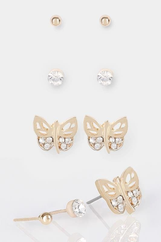 Mother's Day Gift Certificate Template Free Download Best Of 3 Pack Gold & Silver butterfly Stud Earrings
