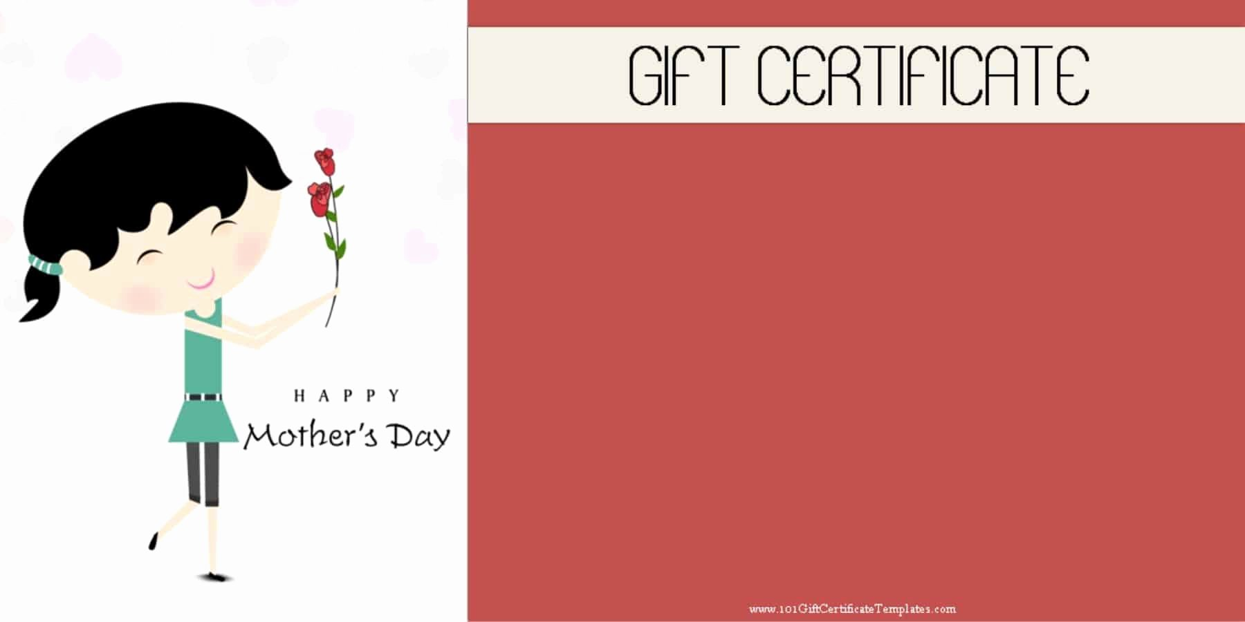 Mother's Day Gift Certificate Template Free Download Best Of Mother S Day Gift Certificate Templates