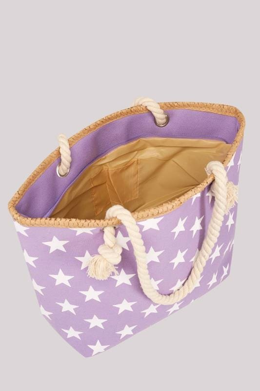 Mother's Day Gift Certificate Template Free Download Best Of Purple & White Star Print Beach Bag with Rope Handles