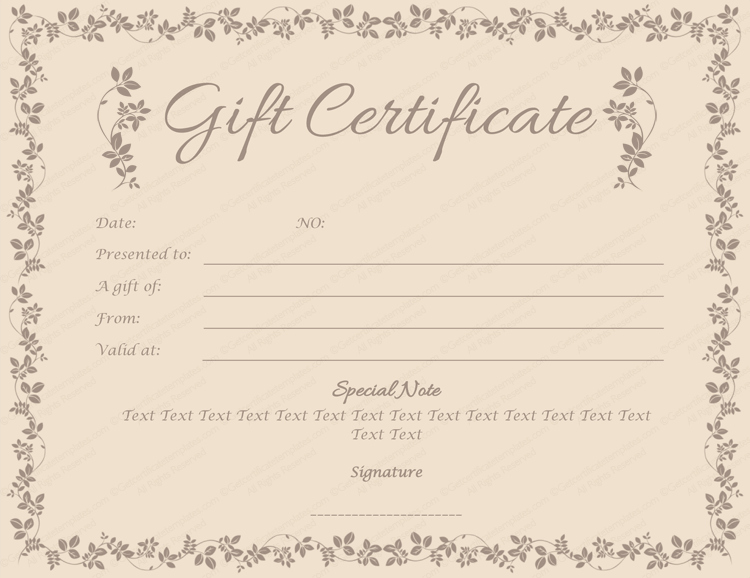 Mother's Day Gift Certificate Template Inspirational Choco Gift Certificate Template for Word