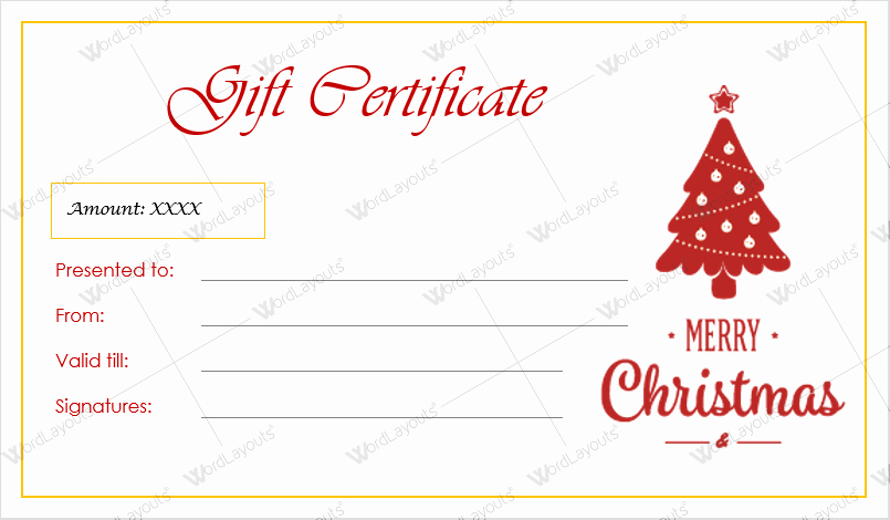 Mother's Day Gift Certificate Template Lovely Christmas Gift Certificate Templates for Word Editable