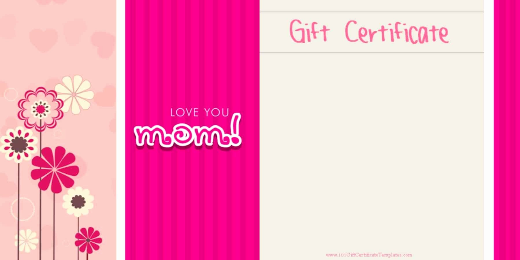 Mother's Day Gift Certificate Template Lovely Mother S Day Gift Certificate Templates