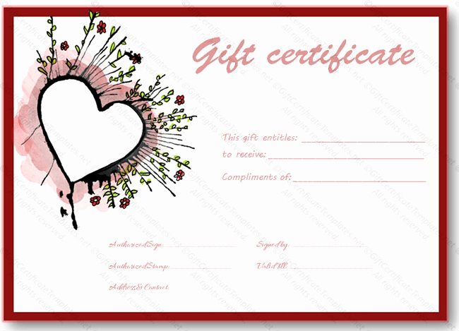Mother's Day Gift Certificate Template Unique Abstract Heart T Certificate Template Certificate