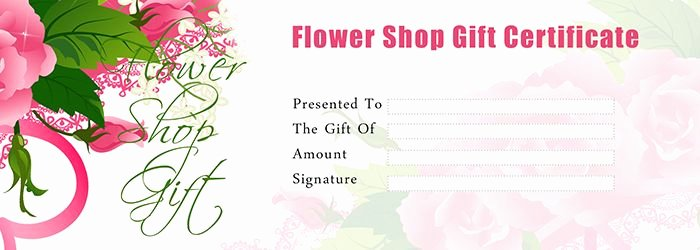 Mother's Day Gift Certificate Template Unique Flower Shop Gift Certificate Template Free Gift