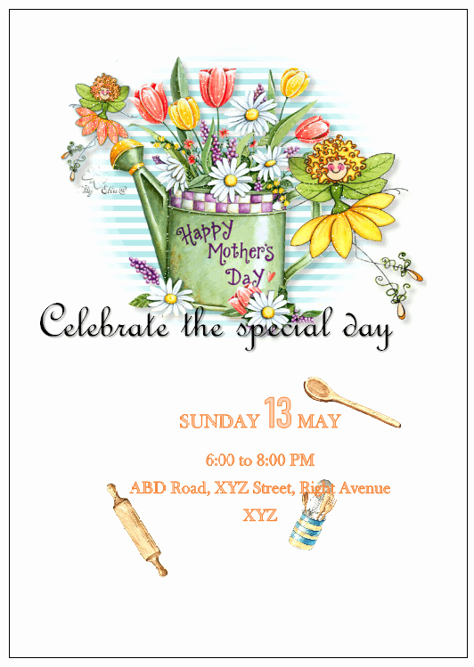 Mother's Day Writing Template Awesome Publisher Flyers