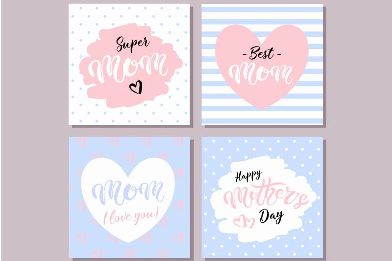 Mother's Day Writing Template Best Of Happy Mother S Day Cards Blue by Darinadreamers Store