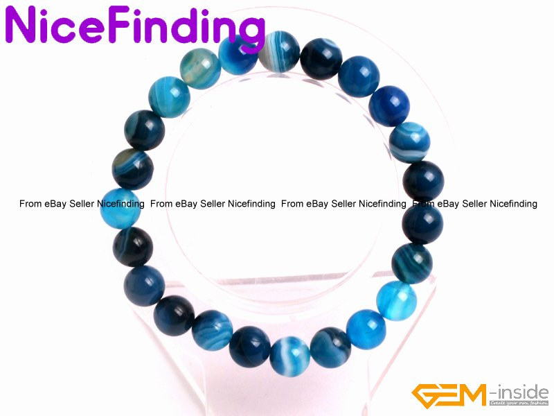 Mother's Day Writing Template Lovely Blue Sardonyx Beaded Energy Healing Bracelets Elastic