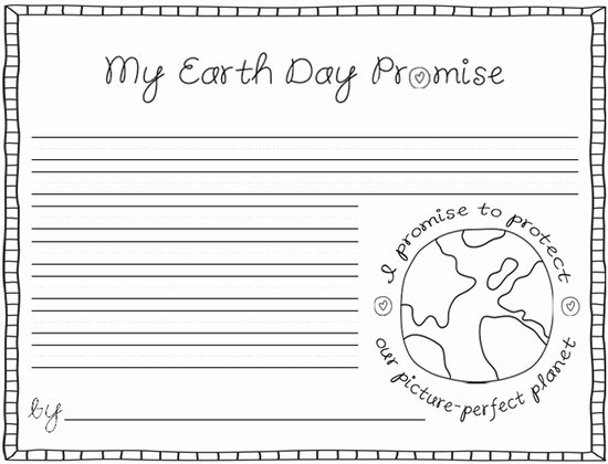 Mother's Day Writing Template New Cottage Street School Green Team My Earth Day Promise