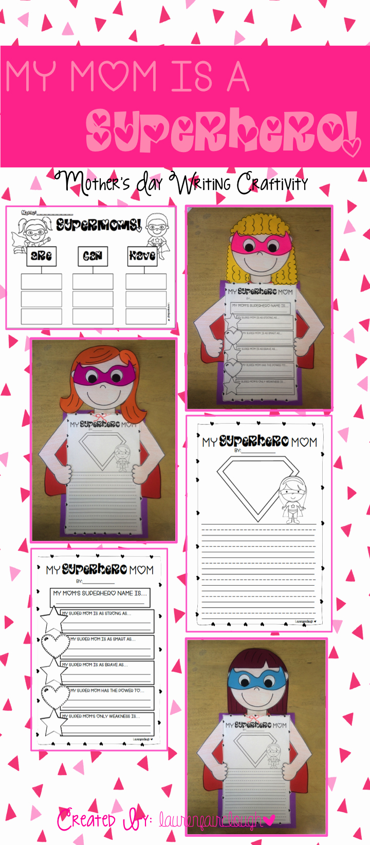 Mother's Day Writing Template Unique Mother S Day Writing and Craft My Mum is A Superhero