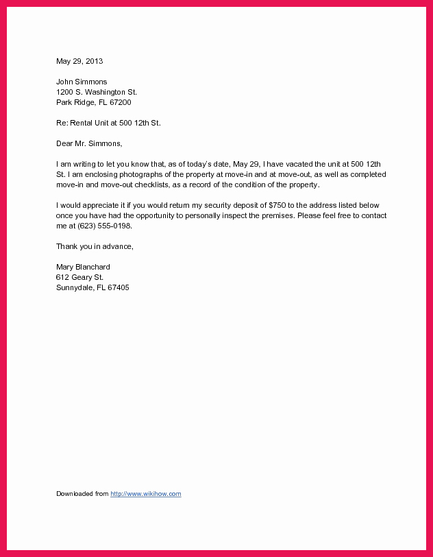 Move In Letter to Tenant Beautiful Letter to Landlord Moving Out
