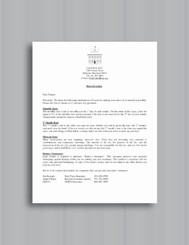 Move In Letter to Tenant Inspirational Free 10 Best Tenant Wel E Letter Examples & Templates