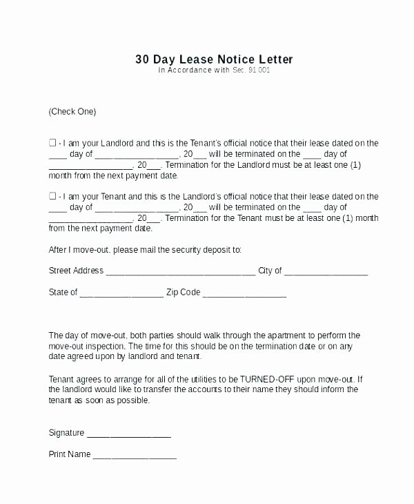 Move In Letter to Tenant Lovely Landlord Notice to Vacate Premises – Gaboweis