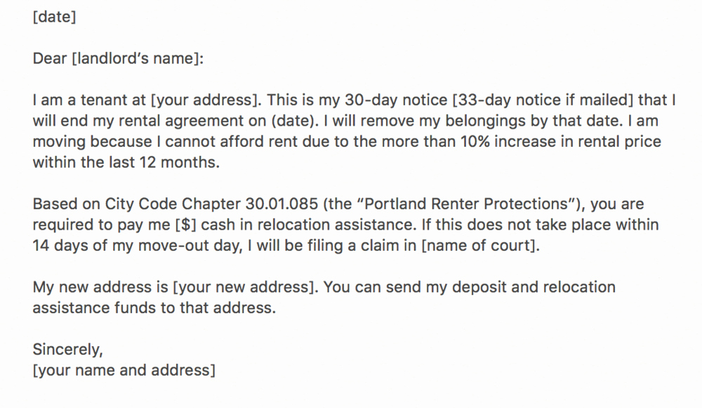 Move In Letter to Tenant New Moving Fellows Relocation assistance for Portland oregon